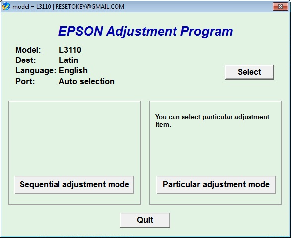 Adjustment program Epson L-3100 L-3...