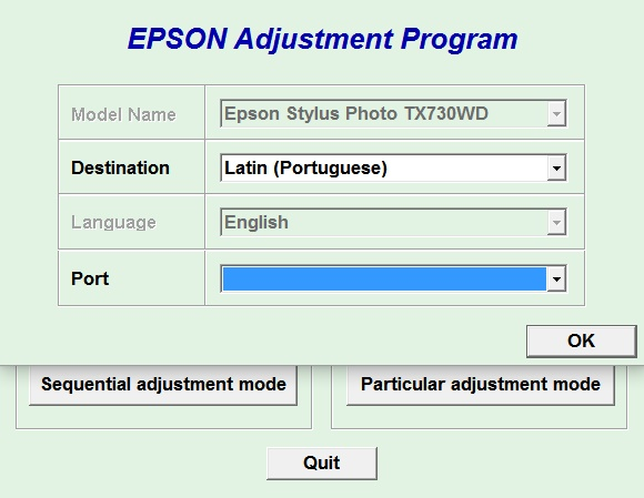 Adjustment program Epson PX-730WD,...