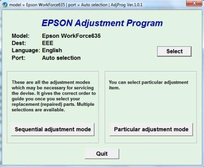 Adjustment program Epson WF-635