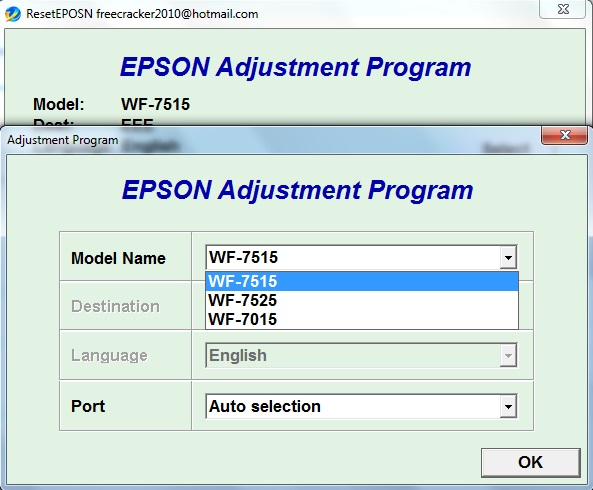 Adjustment program Epson WF7015, WF...