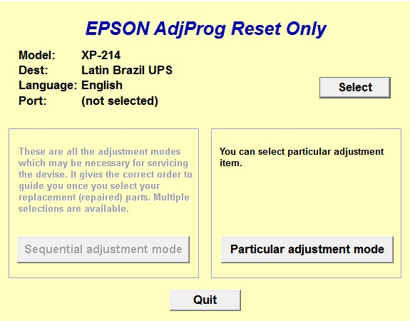 Adjustment program Epson XP-211, XP...