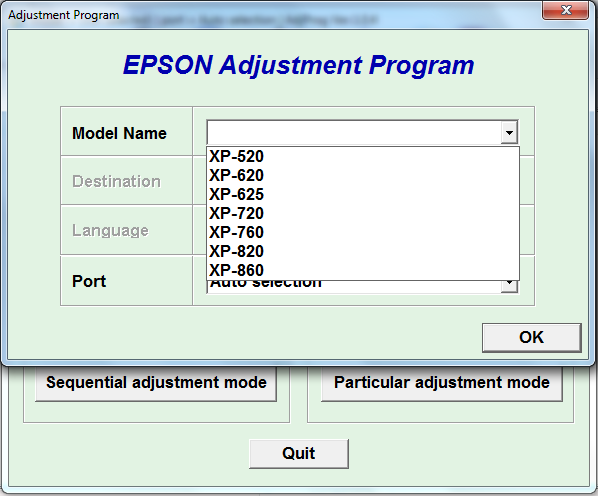 Adjustment program Epson XP-520, XP...